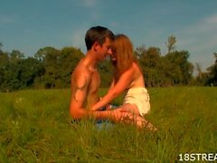 Sex in the grass amateur video