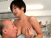 Asian milf gets her tits sucked part6