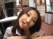 Asian busty MILF blowjob