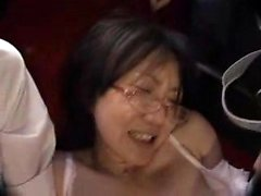 Nerdy Oriental chick enjoys a frenzy of sex toys and intens