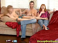 Real ginger amateur in threeway