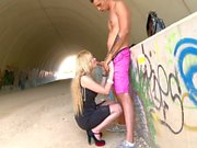 Blowjob Drives Blonde Wild With Desire