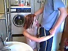 Homemade rough sex in the bathroom