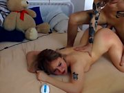 Horny chick banged and takes a cumshot