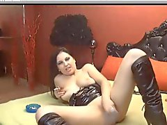 Hot dark haired slut smokes sexily and plays on cam smoking