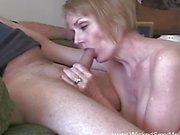 Granny devours this hard dick