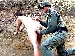 Mexican border patrol agent fucked amateur brunette hottie