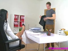 FemaleAgent Agents tight puusy gets creampied