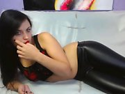 Gorgeous and horny young brunette Alexa loves to tease on the webcam