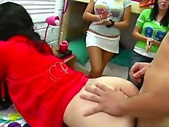 Hot coeds with juicy big asses fucked