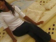 Sexy Real ebony debutante assfucked