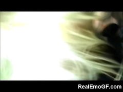 Rebel Tiny Teen Emo GF Gives Head!