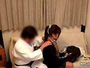 Massage babe doggystyle fucked after blowjob