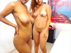 Gigantic Boobs Lesbian Ebony for Hot Blonde Pussy