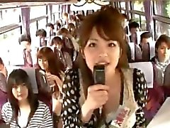 Crazy asian girls have hot bus tour 1