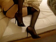 in heels amateurs