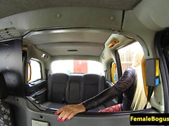 Busty fem cabbies pussy stuffed with bbc