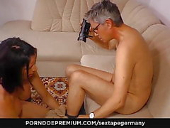 SEXTAPE GERMANY - Hot blowjob sex with German amateur couple
