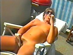 Jean on balcony