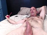 Curvy brunette latina gives a blowjob and handjob