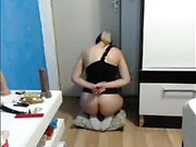 Fetish babe in stockings