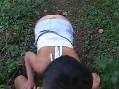 Amateur Chubby Takes Asian Guy In The Woods