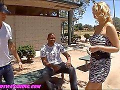 Chubby camel toe big fake titty wife gets pou
