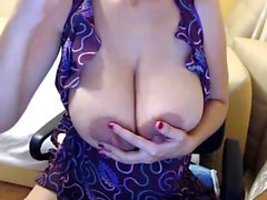Dirty Blonde Mommy Big Boobs Smokes Masturbate