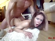 Girl is knocked out by a frying pan and assfucked for biting my dick. Mia