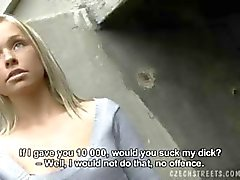 CZECH STREETS - Exclusive Handjob blonde HANKA