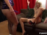Larissa and Sarah are two dirty vixens. These two amateur