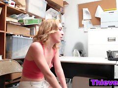 Babes gets shop lifting and punished with a good fuck