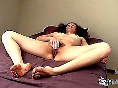 Horny Amateur Nina Masturbates Her Hairy Pussy