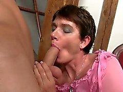 Filthy mother in law craves for cock