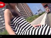 Nice teen Japanese AV model dick riding and doggystyle