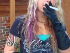 Sexy Leann - Smoking VS120 Black Leather Gloves