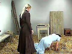 Old school BDSM in the barn
