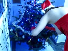 Kriss and the Christmas tree