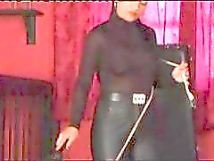 Curious bimmy with an immodest lobster claw doles out the pain on her slave