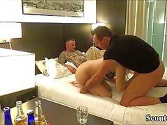 two german amateur couple in real homemade swinger fuck