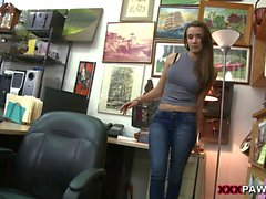 Sexy babe in heels drilled by pawn dude