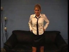 Melissa lincoln blonde slut striptease office assistant cam