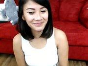 Tattooed asian slut solo on webcam