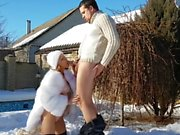 Creampie in the snow