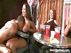Lucky male strippers getting a blowjob