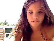 hacked swimmingpool webcam couple enjoying each other