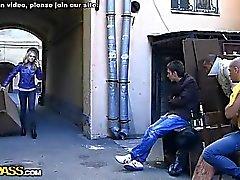 Insane double penetration gang bang
