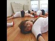 Japanese schoolgirls get facial cumshot