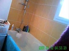 Razing Her Red Muff Hidden Shower Voyeur