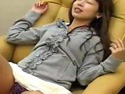 Asian Babe Fingered Through Panties